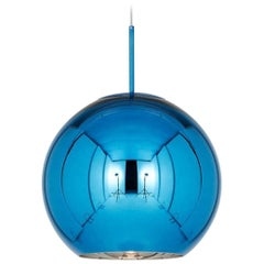 Tom Dixon Minimal Large Blue Copper Pendant Light, Limited Edition, Jeff Koons