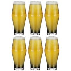 Tom Dixon Tank Beer Glasses Black, Set of 6