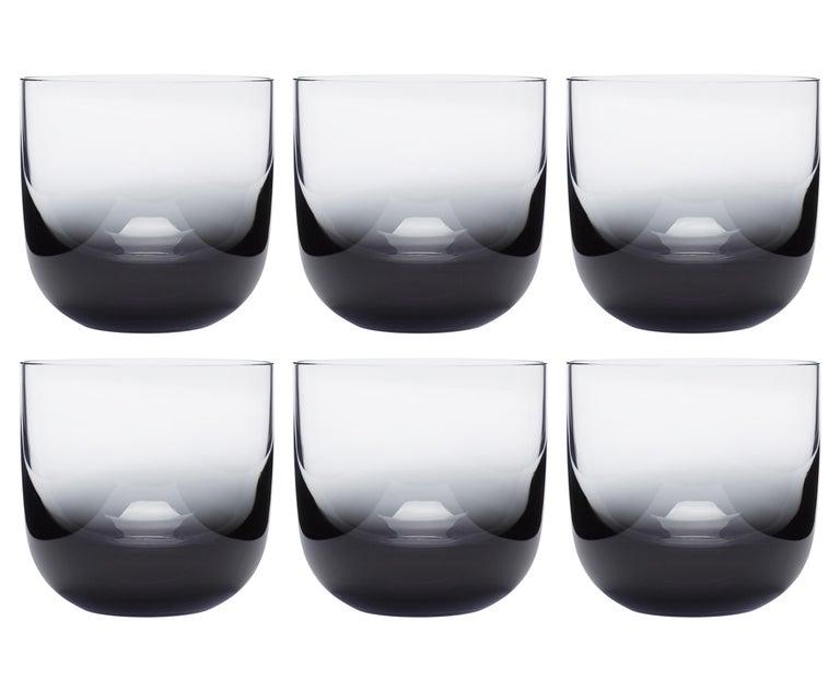 Tom Dixon Tank Low Ball Glasses Black, Set of 6 For Sale