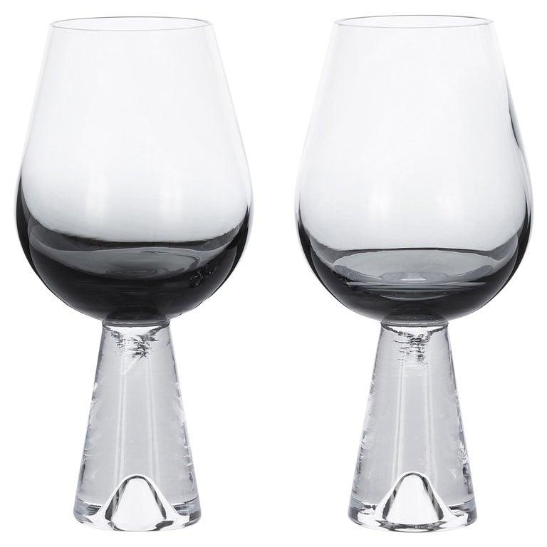Tom Dixon Tank Wine Glasses Black, Set of 6 For Sale