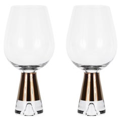 Tom Dixon Tank Wine Glasses Copper, Set of 6