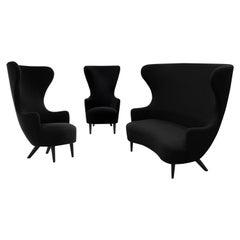 Tom Dixon Wingback Black Leg Hallingdal 65 Sofa & Armchair Lounge, George Smith