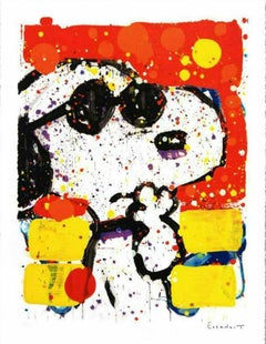 """Tom Everhart, """"Cool and Intelligent"""" Lithograph Signed and numbered"""