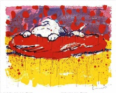 """Tom Everhart, """"Pig Out"""" Lithograph Signed and numbered"""