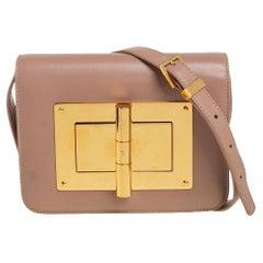 Tom Ford Beige Leather Small Natalia Crossbody Bag
