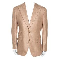 Tom Ford Beige Silk Cashmere Blend Blazer XL