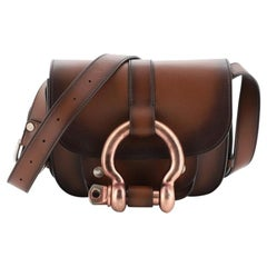 Tom Ford Belted Lock Saddle Bag Leather Small