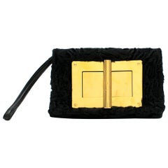 Tom Ford Black Astrakhan Natalia Bag