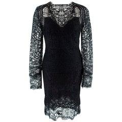 Tom Ford Black Crochet Top & Skirt - Size US 0-2