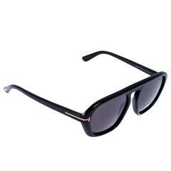 Tom Ford Black David-02 Aviator Sunglasses