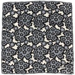 TOM FORD Black & Grey Print Silk Pocket Square