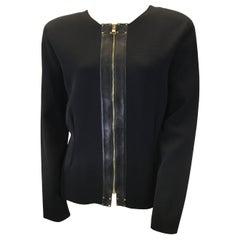 Tom Ford Black Knit Zippered Jacket