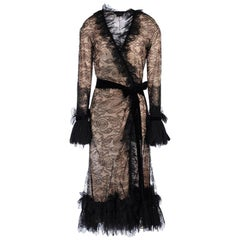 Tom Ford Black Lace Wrap Dress