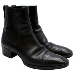 Tom Ford Black Leather Chelsea Boots - Size 42.5