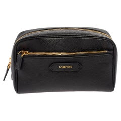 Tom Ford Black Leather Cosmetic Pouch