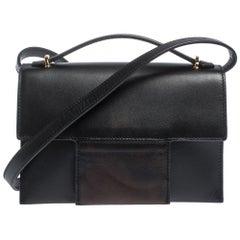 Tom Ford Black Leather Flap Crossbody Bag