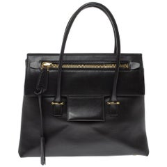 Tom Ford Black Leather Icon Tote