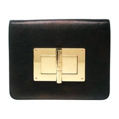 Tom Ford Black Leather Large Natalia Clutch