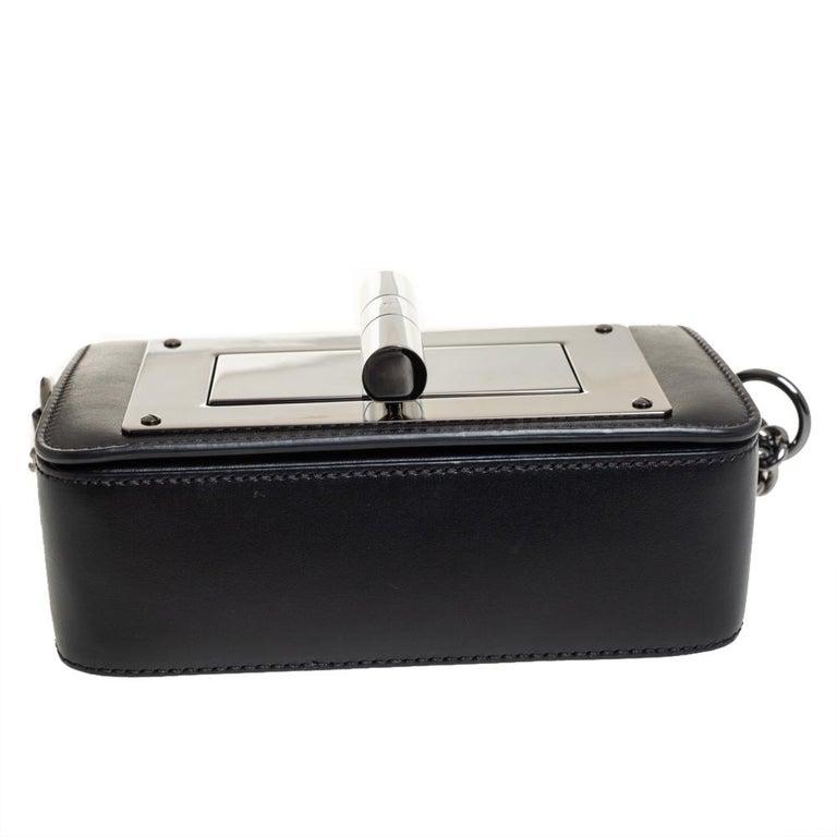 Tom Ford Black Leather Mini Natalia Chain Shoulder Bag For Sale 6
