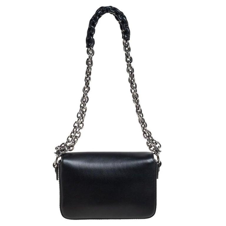 Women's Tom Ford Black Leather Mini Natalia Chain Shoulder Bag For Sale