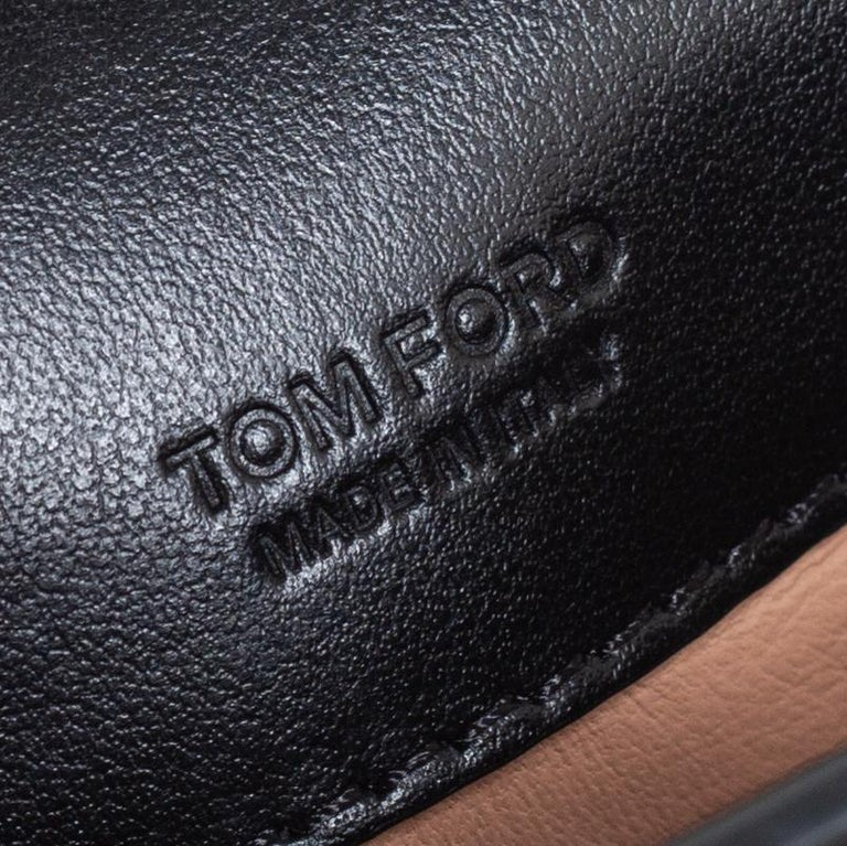 Tom Ford Black Leather Mini Natalia Chain Shoulder Bag For Sale 4