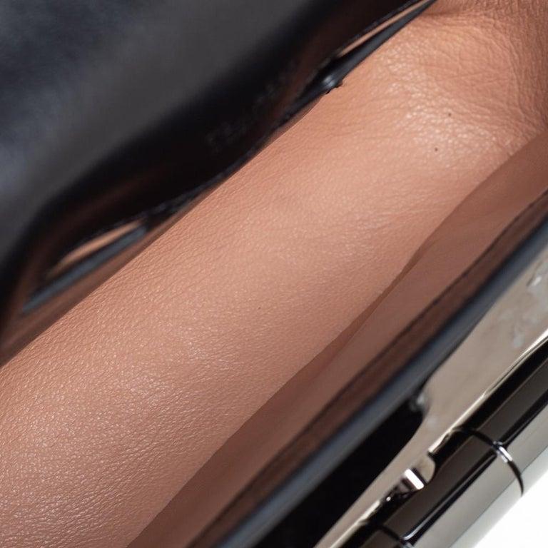 Tom Ford Black Leather Mini Natalia Chain Shoulder Bag For Sale 5