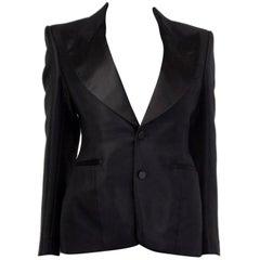 TOM FORD black OXFORD WEAVE BLAZER Jacket 40 S