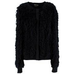 Tom Ford Black SIlk Blend Fringed Cardigan - Size M