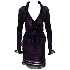 Tom Ford Blackcurrant Purple Skirt Suit