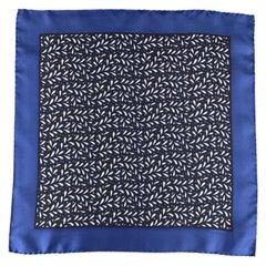 TOM FORD Blue Print Silk Pocket Square