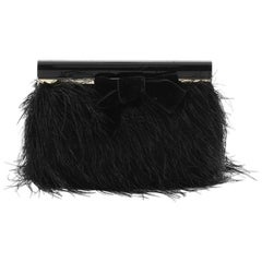 Tom Ford Bow Frame Clutch Feathers