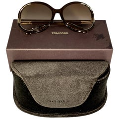 Tom Ford Brand New  FT 0124 60-15-130 48F Brown Women Sunglasses, Made in Italy