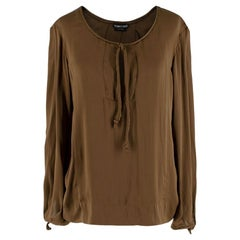 Tom Ford Brown Silk Blouse 38