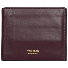 Tom Ford Burgundy Mens Wallet