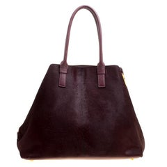 Tom Ford Burgundy Pony Hair and Leather Medium Jennifer Tote