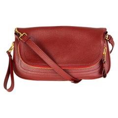 TOM FORD burgundy red JENNIFER Crossbody Shoulder Bag
