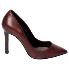 Tom Ford Chocolate Brown Leather Pointed Toe Pump (37 EU)