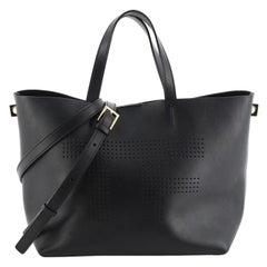 Tom Ford Convertible Logo Tote Perforated Leather Mini