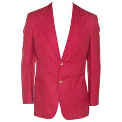 Tom Ford Coral Pink Silk Woven Sport Coat L