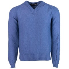 Tom Ford Cotton Blend Knitted V Neck Raglan Sweater