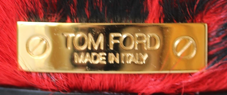 Tom Ford Crystal-Embellished Fur Slides  For Sale 3