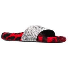 Tom Ford Crystal-Embellished Fur Slides