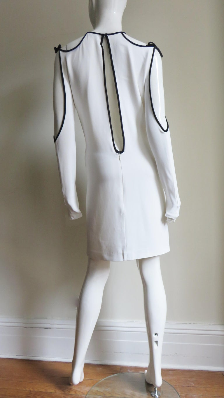 Tom Ford Cut Out Shoulders and Sleeves Dress For Sale 9