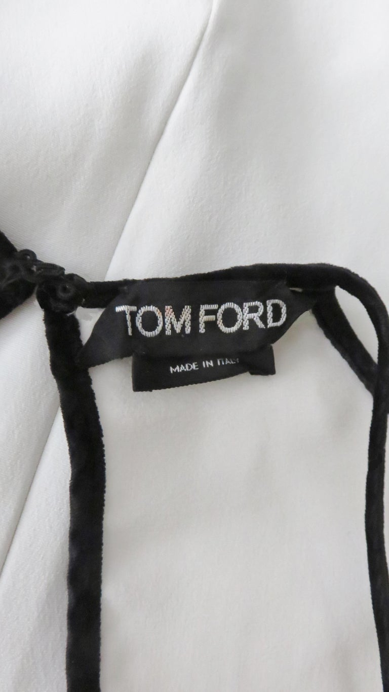 Tom Ford Cut Out Shoulders and Sleeves Dress For Sale 11