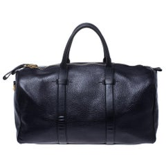 Tom Ford Dark Plum Leather Buckley Duffle Bag