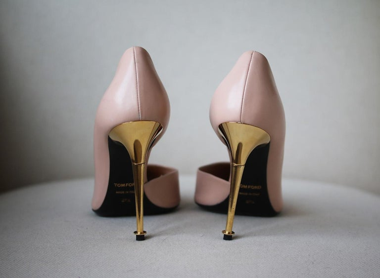 Brown Tom Ford D'Orsay Leather Pumps  For Sale