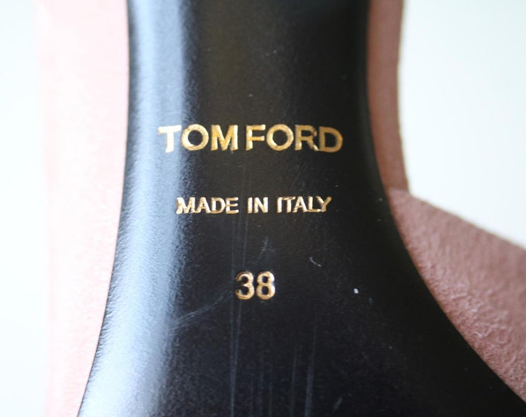 Tom Ford D'Orsay Suede Pumps For Sale 2