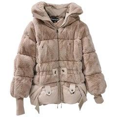 Tom Ford faux beaver padded bomber-jacket