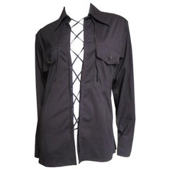 Tom Ford for for Yves St Laurent Lace up Safari Shirt