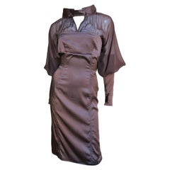 Tom Ford for Gucci 2004 Brown Silk Dress